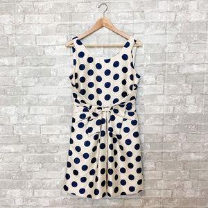 Kate Spade Jillian Polka Dot Bow A-Line Dress